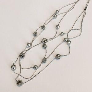 Silver multi-strand necklace from Avenue